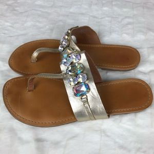 BC Jeweled Sandals Size 9
